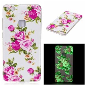 Noctilucent IMD Soft TPU Case for Huawei P10 Lite - Blooming Peonies