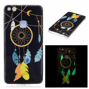 Noctilucent IMD Soft TPU Shell Case for Huawei P10 Lite - Feather Dream Catcher