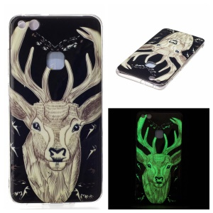 Noctilucent IMD Soft TPU Mobile Phone Case for Huawei P10 Lite - Elk