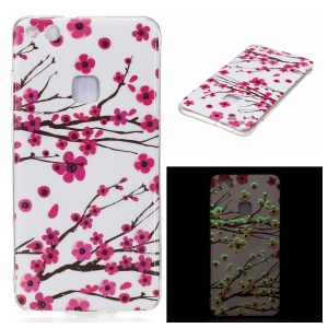 Noctilucent IMD Soft TPU Gel Case for Huawei P10 Lite - Plum Blossom