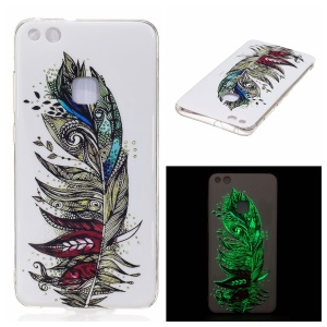 Noctilucent IMD TPU Flexible Case for Huawei P10 Lite - Tribal Feather