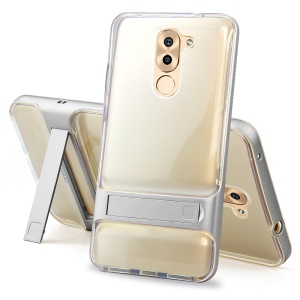 ELEGANCE TPU + PC Hybrid Mobile Phone Case with Kickstand for Huawei Honor 6 Plus / 6X - Silver