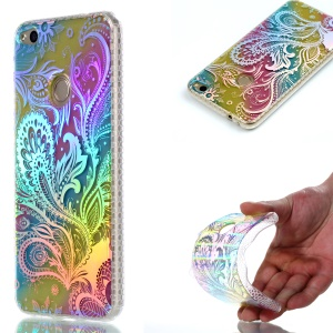 Colorful Electroplating IMD Soft TPU Cell Phone Case for Huawei P8 Lite (2017)/Honor 8 lite - Paisely