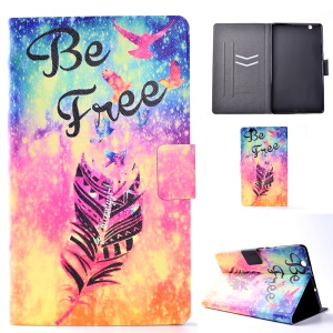Pattern Printing Leather Card Slots Tablet Case for Huawei MediaPad M3 8.4 - Feather and Be Free