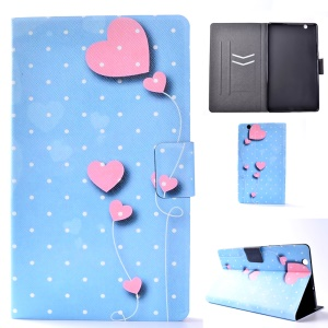 For Huawei MediaPad M3 8.4 Patterned Card Holder Leather Protective Case - Pink Hearts