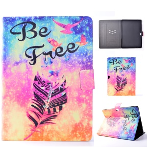 Pattern Printing Leather Card Slots Flip Case Stand for Huawei MediaPad M2 10.0 - Feather and Be Free