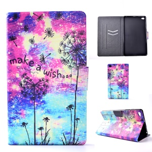 For Huawei MediaPad M2 8.0 Patterned Card Slots Leather Stand Case Accessory - Dandelion