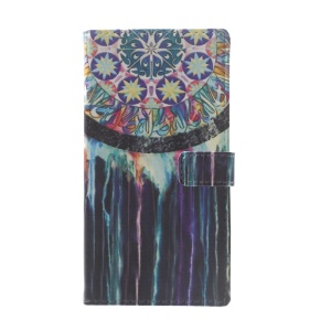 Pattern Printing Leather Wallet Cover for Huawei P10 Lite - Dream Catcher