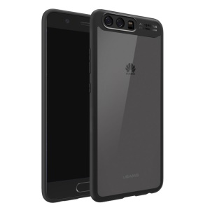 USAMS Mant Series Clear PC + Soft TPU Phone Cover for Huawei P10 - Black