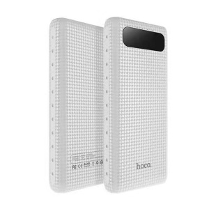 HOCO Mige LCD Power Bank 20000mAh External Battery Charger for Samsung Huawei Etc (B20A-20000) - White