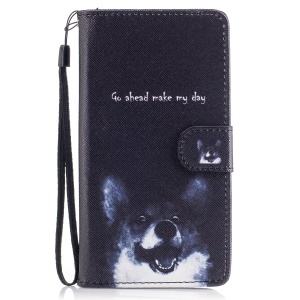 Pattern Printing Wallet Leather Stand Case for Huawei P9 Lite/G9 Lite - Go ahead Make My Day