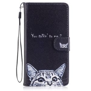 Pattern Printing Wallet Leather Stand Cover for Huawei P9 Lite/G9 Lite - You Talking to Me