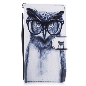 Pattern Printing Phone Leather Wallet Case for Huawei P9 Lite/G9 Lite - Owl Pattern