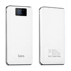 HOCO B23B-20000 20000mAh Flowed Power Bank with LED Display for Samsung S8 etc. - White