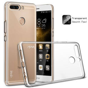 IMAK TPU Protective Case with Anti-explosion Screen Film for Huawei Honor 8 Pro / Honor V9 - Transparent