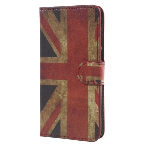Patterned Leather Wallet Stand Mobile Phone Cover for Huawei Y5 (2017) - Vintage UK Flag