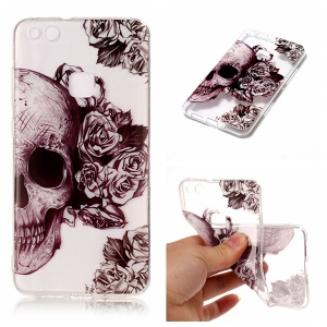 Pattern Printing IMD TPU Shell Case for Huawei P10 Lite - Cool Skull