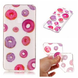 Pattern Printing IMD TPU Back Case for Huawei P10 Lite - Doughnut Pattern