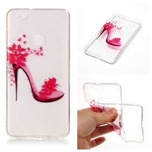 Pattern Printing IMD TPU Cell Phone Case for Huawei P10 Lite - High-heeled Shoe