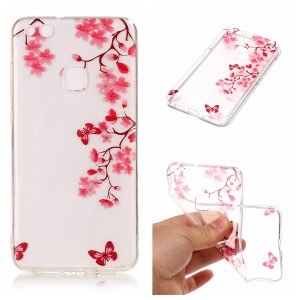 Pattern Printing IMD TPU Shell Cover for Huawei P10 Lite - Flowers Pattern