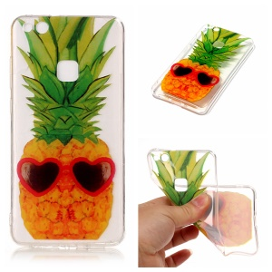 Pattern Printing IMD TPU Cover Shell for Huawei P10 Lite - Pineapple Pattern