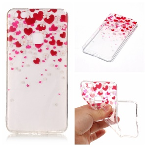 Pattern Printing IMD TPU Case Accessory for Huawei P10 Lite - Hearts and Flowers