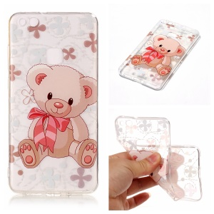 Pattern Printing IMD TPU Phone Casing for Huawei P10 Lite - Adorable Bear