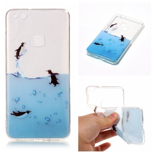 Pattern Printing IMD TPU Shell Phone Case for Huawei P10 Lite - Lovely Penguin