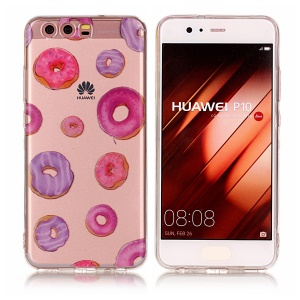 Pattern Printing IMD TPU Back Case for Huawei P10 - Doughnut Pattern