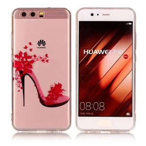 Pattern Printing IMD TPU Gel Case for Huawei P10 - High-heeled Shoe