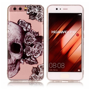 Pattern Printing IMD TPU Shell Case for Huawei P10 - Cool Skull