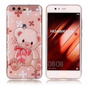 Pattern Printing IMD TPU Gel Cover for Huawei P10 - Adorable Bear