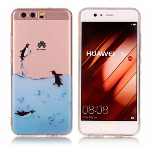 Pattern Printing IMD TPU Protective Case for Huawei P10 - Lovely Penguin