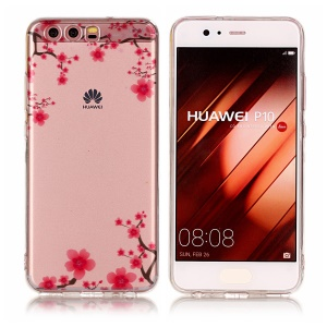 Pattern Printing IMD TPU Soft Case for Huawei P10 - Flowers Pattern