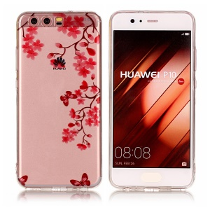 Pattern Printing IMD TPU Case Accessory for Huawei P10 - Beautiful Flowers