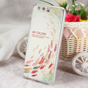 Softlyfit Embossed TPU Phone Accessory Case for Huawei P10 - The Journey of Fish