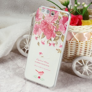 Softlyfit Embossed Ultra Thin TPU Mobile Phone Shell for Huawei P10 - Flower Collection
