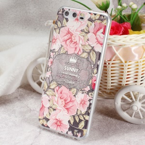 Softlyfit Embossing Gel TPU Phone Accessory Case for Huawei P10 - Sunny Sweet Memory and Blooming Flowers