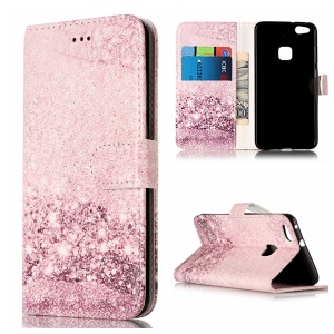 Pattern Printing Wallet Leather Mobile Cover for Huawei P10 Lite - Glittery Sequins