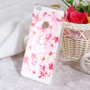 Softlyfit Embossed TPU Mobile Phone Case for Huawei P8 Lite (2017) / Honor 8 Lite - Peach Flowers
