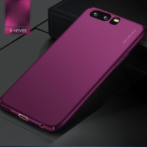 X-LEVEL Frosted PC Hard Phone Back Cover para Huawei P10 - roxo