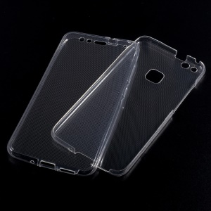 Touchable TPU Full Protective Case (Front + Back) for Huawei P10 Lite - Transparent