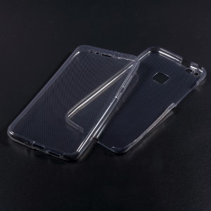 Touchable TPU Front + Back Phone Case Accessory for Huawei P10 Lite - Grey