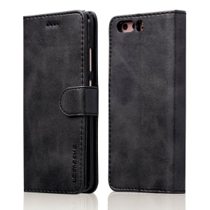 LC.IMEEKE Wallet Stand Leather Phone Case Acessório para Huawei P10 - Preto