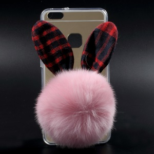 Mirror-like Electroplated PC TPU Mobile Case for Huawei P10 Lite - 3D Bunny Head