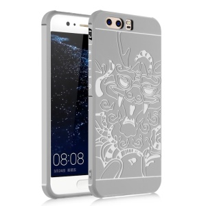 Custodia protettiva a goccia impermeabile TPU per Huawei P10 Plus - Dragon Patterned / White