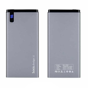 HOCO HANBECK 10000mAh 2.1A Li-polymer Power Bank (B25-10000) - Grey