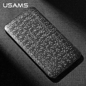 USAMS US-CD21 10000mAh Mosaic Series Double USB Power Bank - Noir