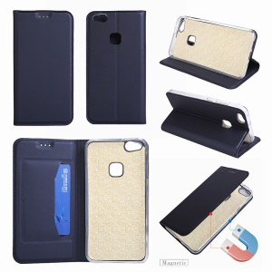 Ultra-thin Leather Mobile Phone Cover for Huawei P10 Lite - Dark Blue