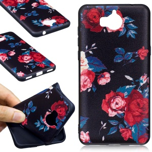 Embossing Pattern Matte Soft TPU Shell for Huawei Y5 (2017) / Y6 (2017) - Roses